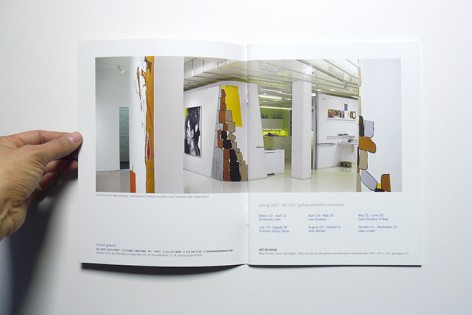 Opening spread of Issue 7, featuring work by Mark Mulroney in the front gallery