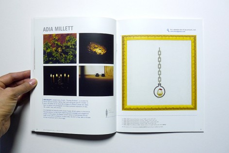 Spread from Issue 7 featuring work by Adia Millett