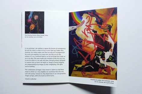 Spread featuring the artwork of Charlie Ledbetter