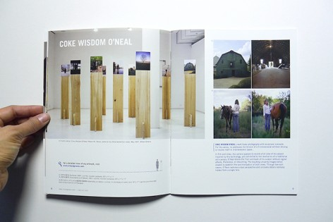 Spread from Issue 8 featuring work by Coke Wisdom O'Neal