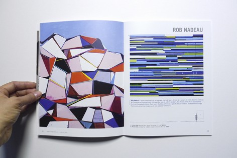 Spread from Issue 8 of the biannual catalogue, featuring work by Rob Nadeau